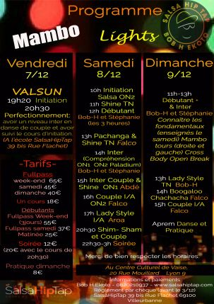 le programme du mambo Ligths